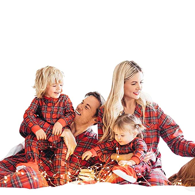 Image Unavailable. Image not available for. Color  Christmas Family  Button-Front Matching Pajamas Set Stewart Plaid Christmas Pajama ... 73a272bb0