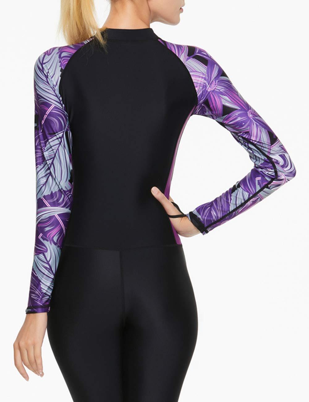 Femmes Sport S/échage Rapide Snorkeling Wetsuit Zhhlinyuan Plage Manches Longues Anti UV Combinaison de Plong/ée Swimsuit Combinaison Monopi/èce