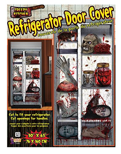 Forum Novelties Haunted House Refrigerator Door Cover, Multicolor (75083) -