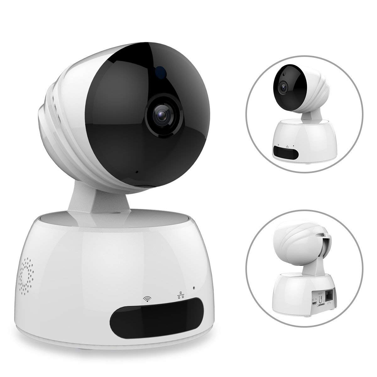 IP Camera Petocase 1.0MP 720P Home Wireless Security Surveillance System with Two Way Audio Remote Indoor Night Vision Pet Baby Monitor