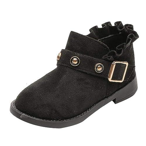 Botas Niña Invierno K-youth Zapatillas de Chica Rojas Zapatos Ocasionales de Niñas Patucos Martin Botines Zapatos Boda Niña Zapatos Niña Fiesta ...