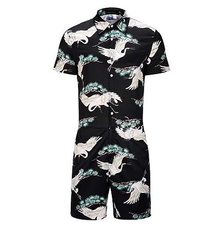 e9643a0f8 Amazon.com  SPP PANDA Men s Summer Short Sleeve Coverall Onesies ...