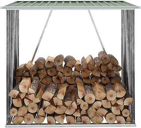 Rikoj - Caseta de madera para jardín (acero galvanizado, 163 x 83 x 154 cm), color verde: Amazon.es: Hogar