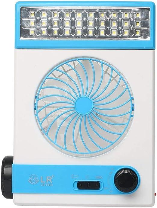 Instag Ventilador Solar portátil para Acampar Ventilador 3 en 1 ...