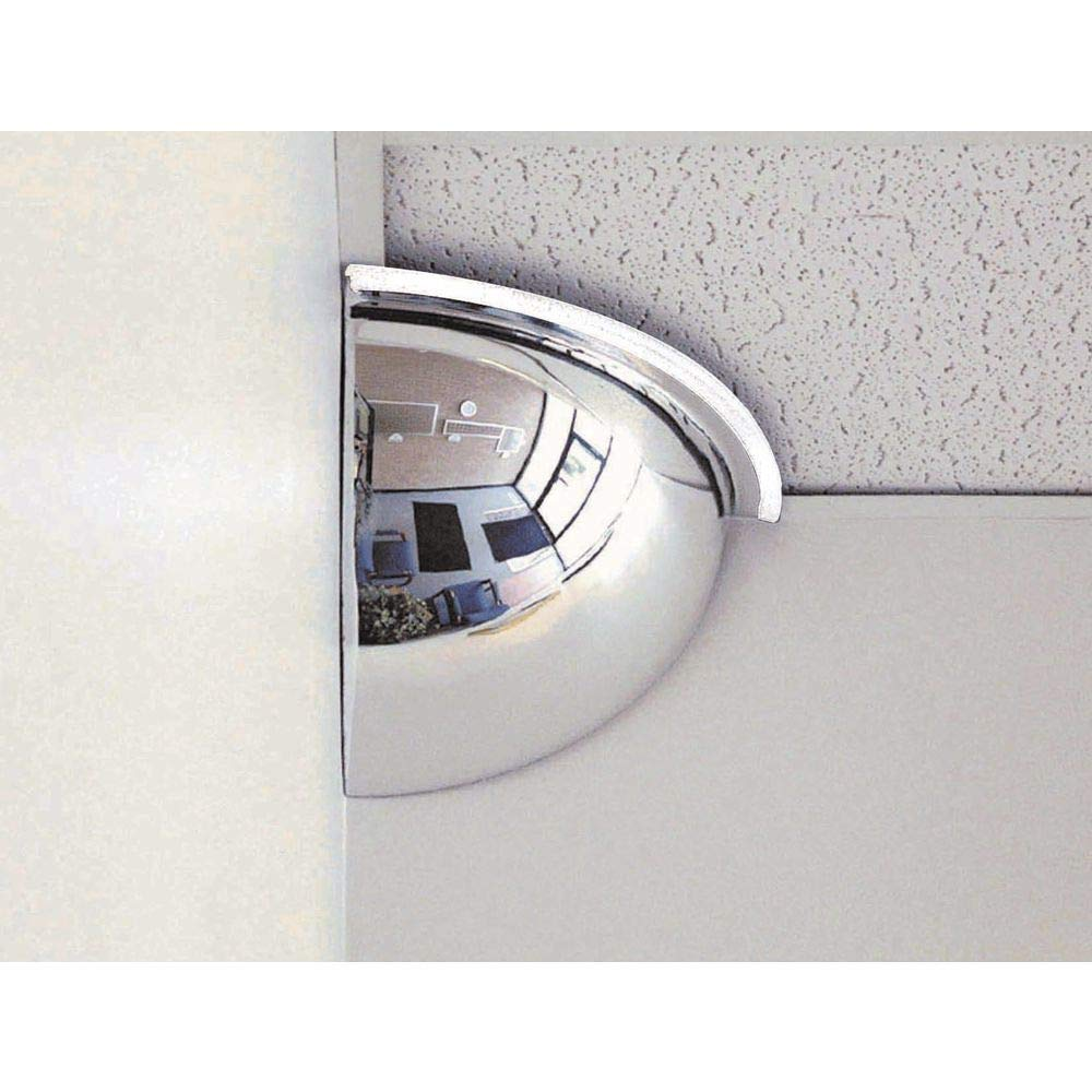 "See All PV18-90 Panaramic Quarter Dome Plexiglas Security Mirror, 90 Degree Viewing Angle, 18"" Diameter (Pack of 1)"