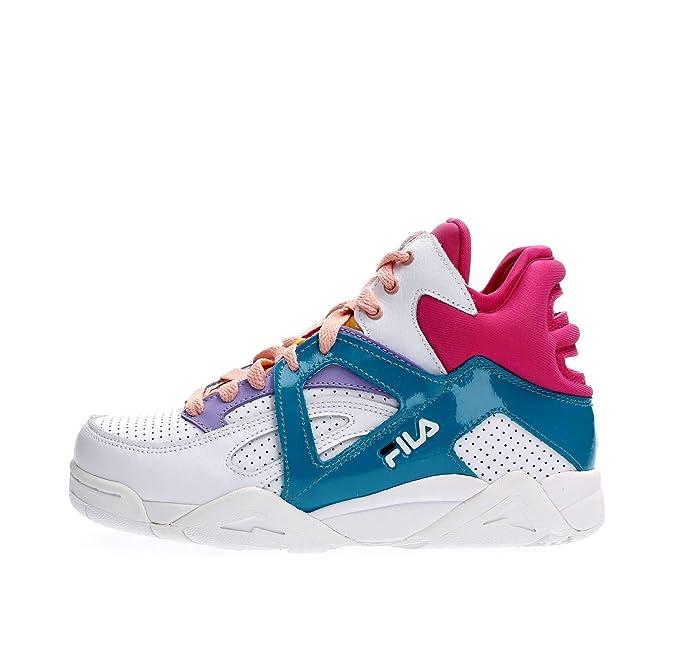 Fila Scarpe da Donna Sneakers Cage CB Mid Wmn in Pelle Bianca 1010614-03A