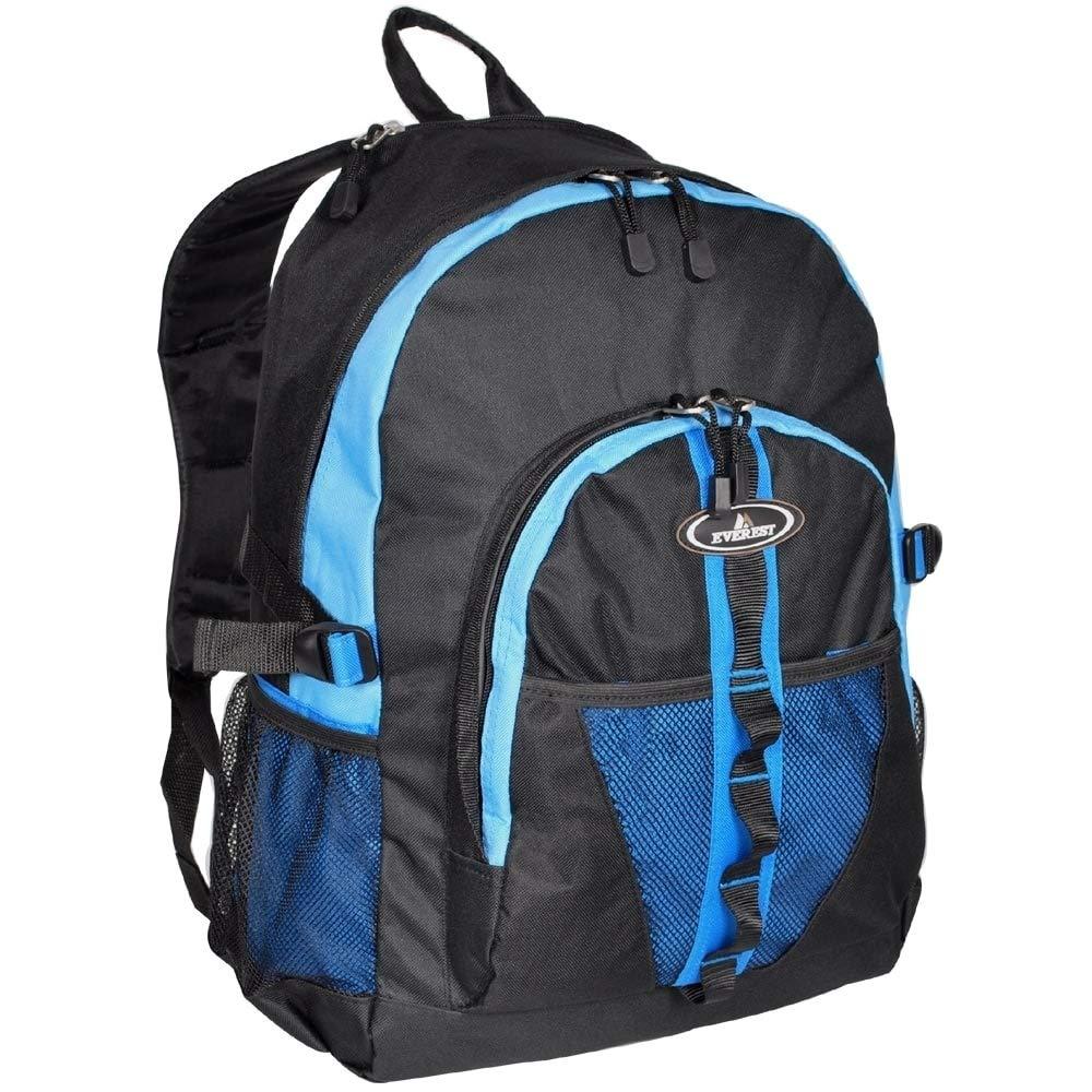 Mattsglobal 軽量19インチポリエステルバックパック デュアルメッシュポケット  ブルー B07GCPQC2V