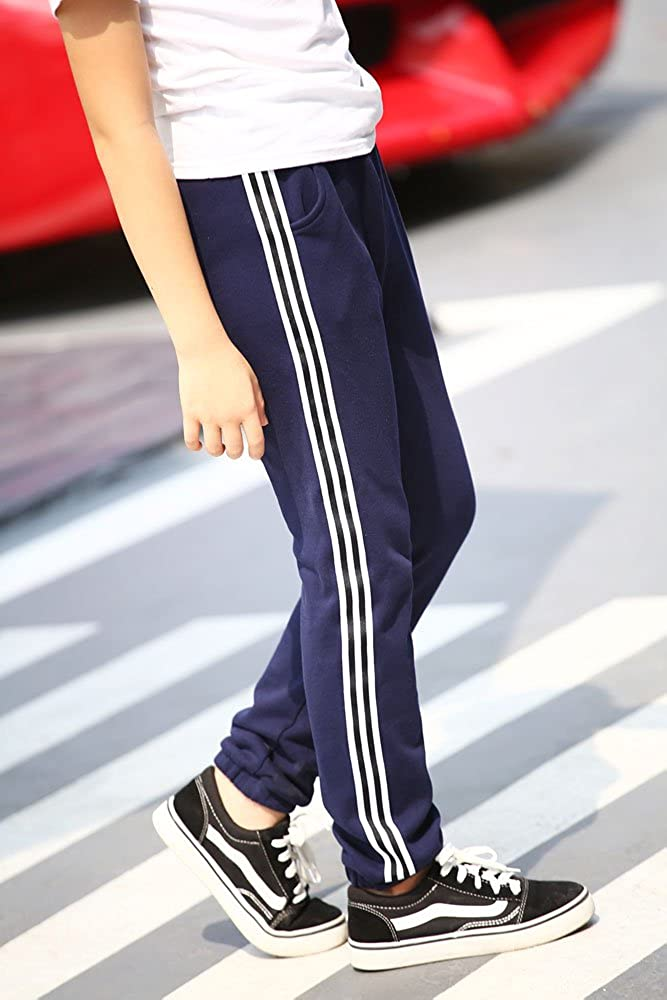 Pailobao Boys Sweatpants Youth Everyday Athletic Pants