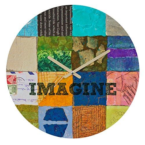 Deny Designs Elizabeth St Hilaire Nelson, Imagine 2 , Round Clock, Round, 12