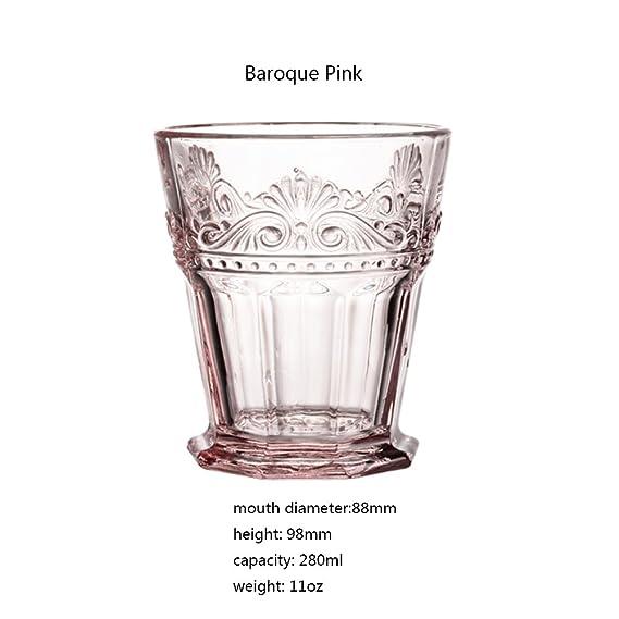 Estilo barroco vidrio desayuno leche taza jugo bebida hogar ...