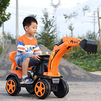 Ride On Construction Vehicle Excavator Digger Toy for Kids : Baby