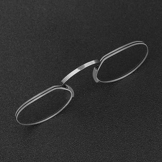 ab548e0ac5e3 Amazon.com  Reading Glasses Nose Resting Pinching Ultralight Vision Mini  Portable Men and Women Anti-Blue Light Pince-Nez Eyeglasses Phone s Stand  Glasses ...