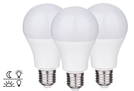 ZEYUN E27 Bombillas LED con sensor de luz diurna Luz nocturna con interruptor automático, Bombilla
