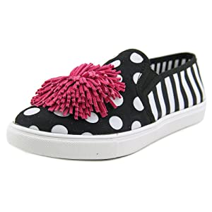 Blue by Betsey Johnson Women's DAHNI Fashion Sneaker, Black Polka Dot, 7 M US