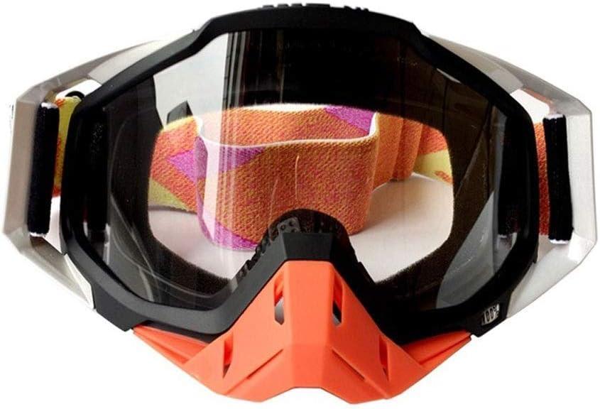 自転車のフロントガラス透明防風防塵オートバイオフロードアウトドア乗馬機器男性と女性スポーツ冬スキーゴーグル人格ファッションダストミラー Two