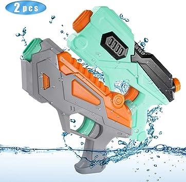 O-Kinee Pistolas de Agua, 2 Pack Water Gun de Plástico Alcance ...