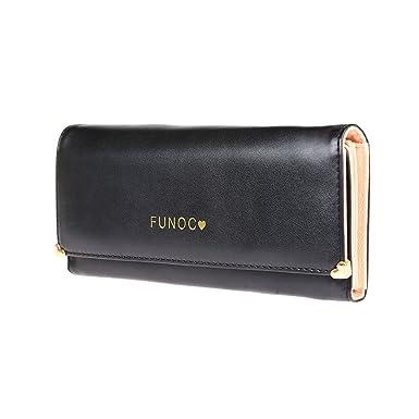 Amazon.com: FUNOC de piel mujer portafolios cartera embrague ...