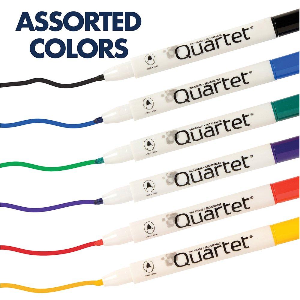 Quartet Dry Erase Markers, Whiteboard Markers, Fine Point, Mini, Magnetic, ReWritables, Classic Colors, 6 Pack (51-659312Q) by Quartet (Image #8)