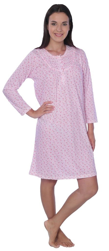 Women s Plus Size Floral Long Sleeve Nightgown 70833272c