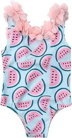 WINDYLEE Toddler Infant Kids Baby Girls Backless Watermelon Bikini Swimwear Swimsuit Bathing Suit