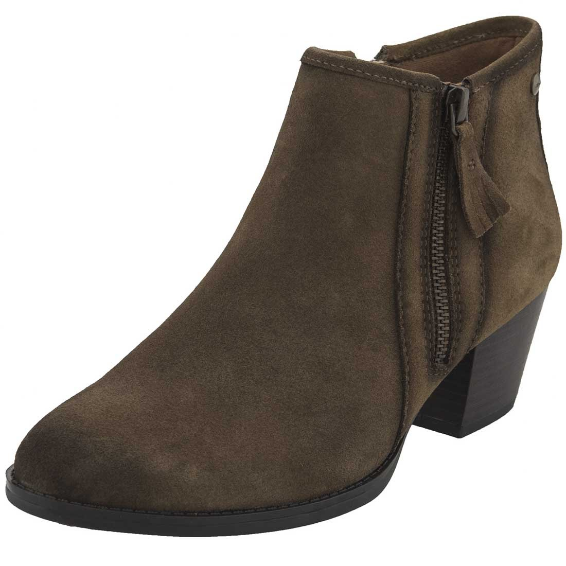 Earth Womens Osprey Boot B06X9RPQ4W 7.5 B(M) US|Brown Suede/Water Resistant