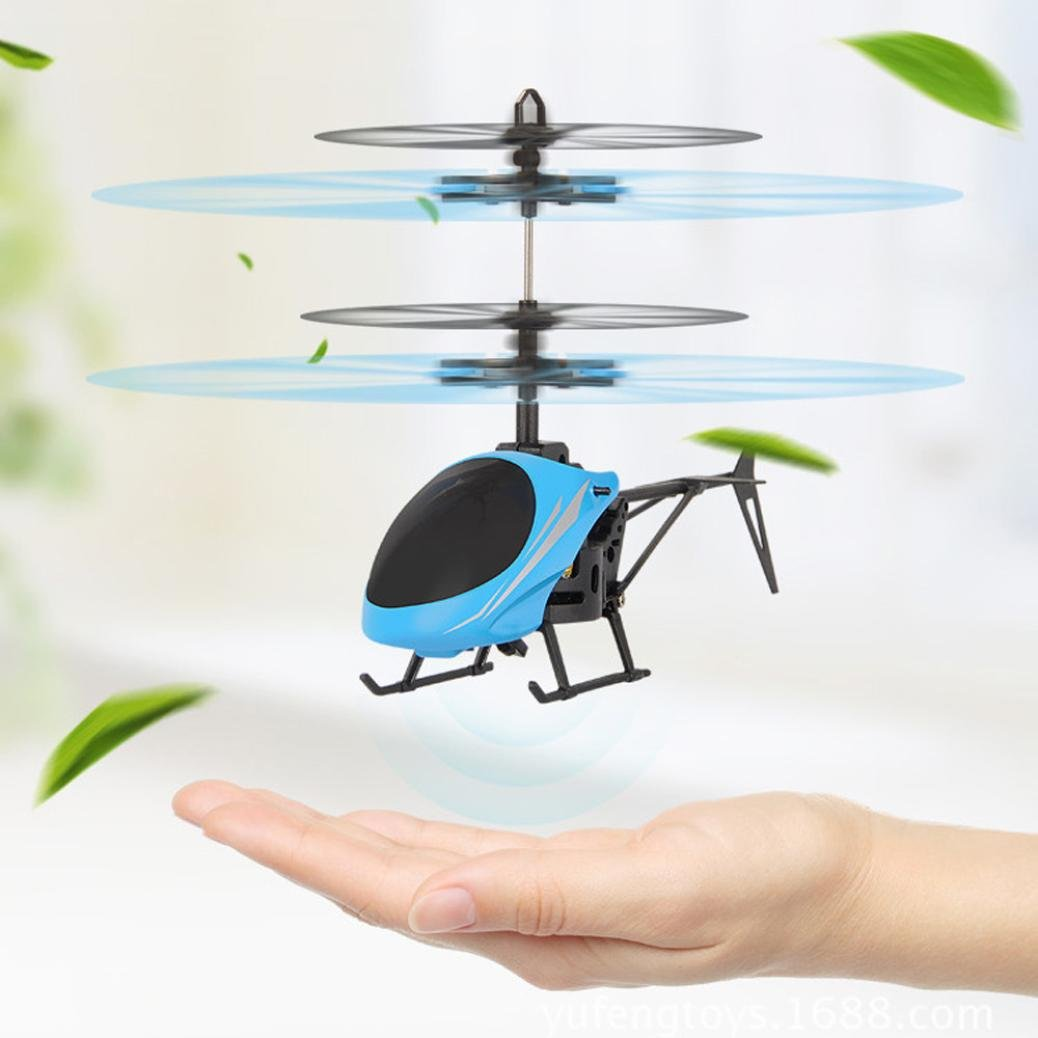 Leegor Mini RC Infrared Induction Helicopter Aircraft Flying Flashing Light Toys