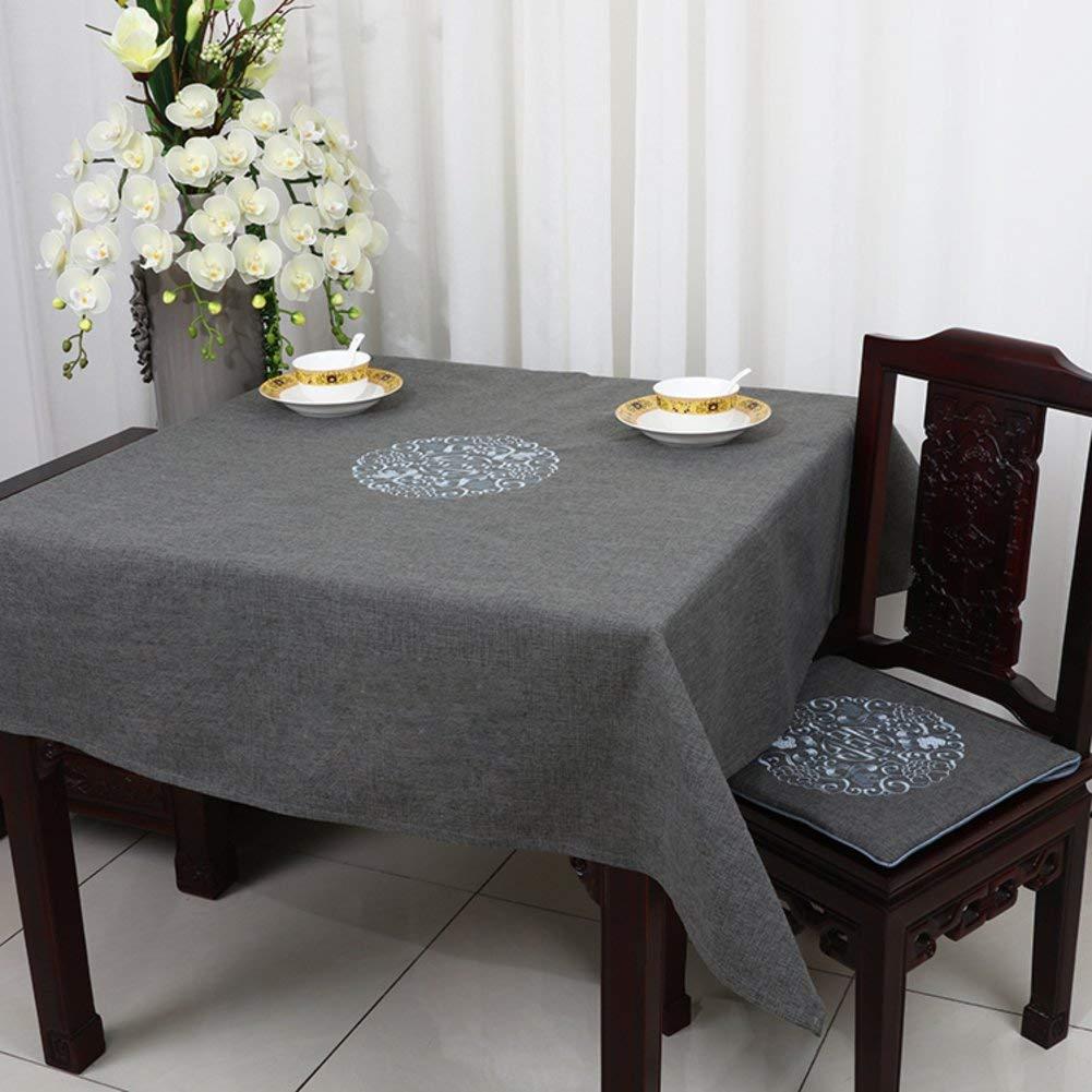 QYM テーブルクロス、テーブルクロス、亜麻、テーブルクロス (Color : F, サイズ : 150x150cm(59x59inch))   B07S8MD5MY