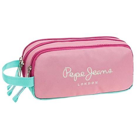 Pepe Jeans Bicolor Neceser de Viaje, 1.98 litros, Color Rosa ...