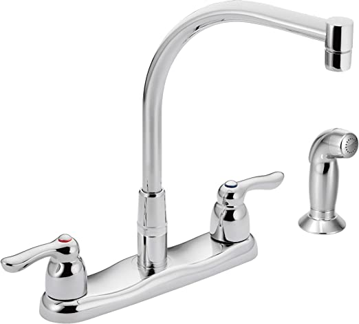 Moen 8792 Commercial Two-Handle M-Bition Kitchen Faucet with Side Spray,  Chrome