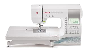 Singer Quantum Stylist 9960 Computerized Portable Sewing Machine with 600-Stitches, Electronic Auto Pilot Mode,