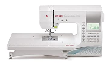 Review Singer Quantum Stylist 9960 Computerized Portable Sewing Machine 600-Stitches, Electronic Auto Pilot Mode, Extension Table Bonus Accessories, Perfect Customizing Projects