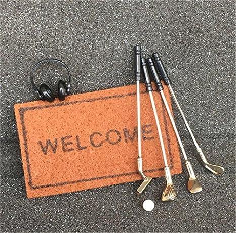 1//12 Dollhouse Miniature 5 Sets Alloy Golt Kit Sports Equipment Garden