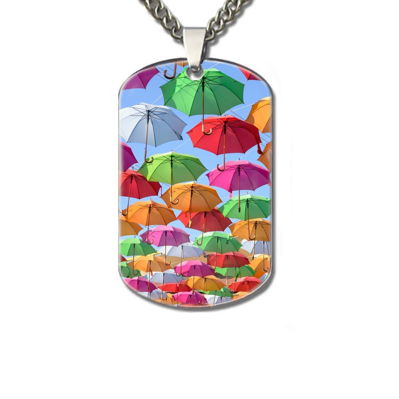 Amazon.com : PANQJN Colorful Umbrellas Pet Necklace ID Tags ...