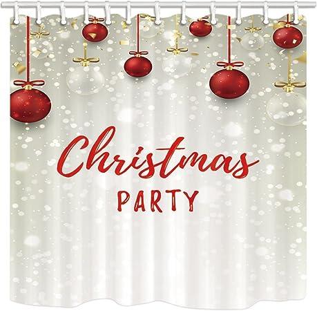 12hooks 71*71inches Christmas Wishing Star Shower Curtain Home Bathroom Fabric