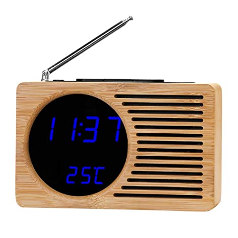 LEWWB Reloj Digital - Radio con Doble Canal Am y FM.Mejor Regalo,Calidad