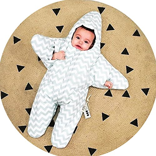 Baby sleeping bag, starfish, pure cotton, baby, newborn sleeping bag, 0-3 months by JIANYU