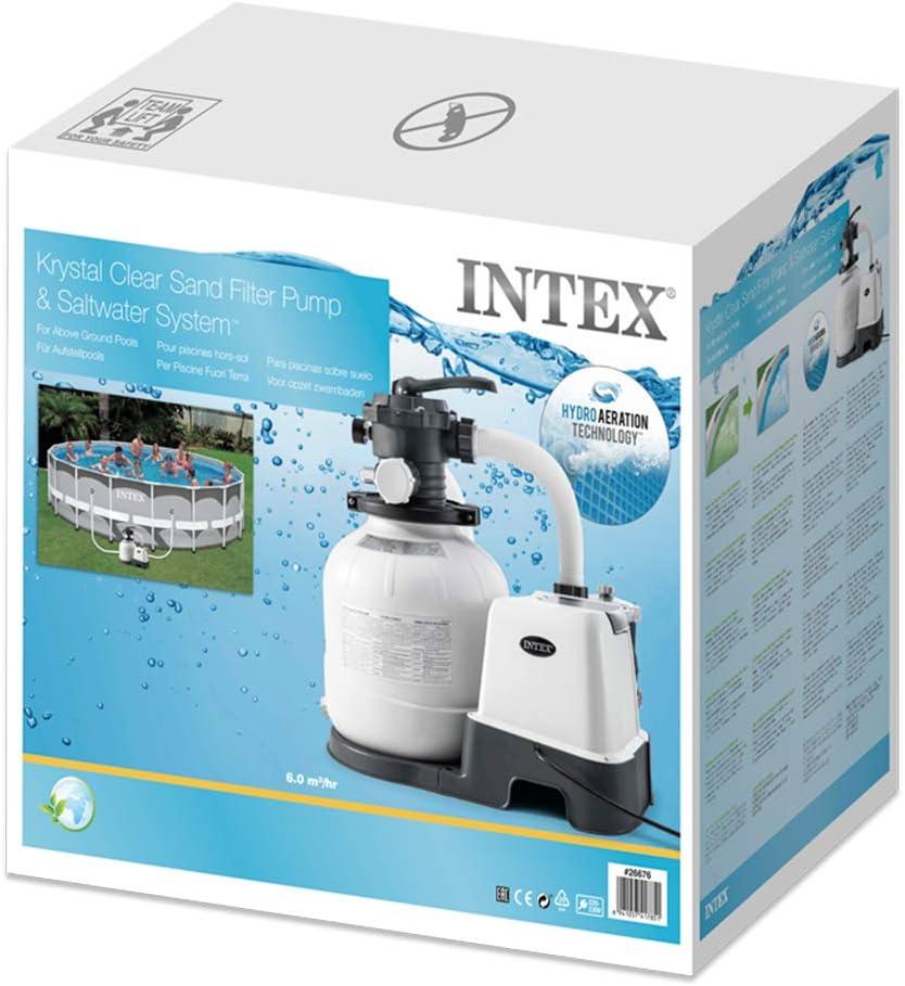 Intex 26676 - Sistema Combinado depuradora Arena y clorador salino ...