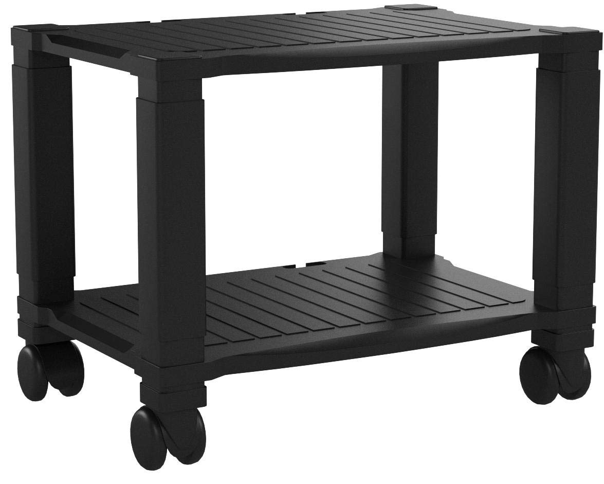 Home-Complete Printer Stand-2-Tier Under Desk Table for Fax, Scanner, Printer, Office Supplies-Compact and Mobile with Wheels for Portable Storage by Home-Complete