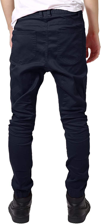 JD Apparel Men's Skinny Fit Harem Joggers Apg804_dark Navy