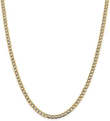 Sonia Jewels 14k Yellow Gold Figaro White Pave Chain ID Bracelet 6