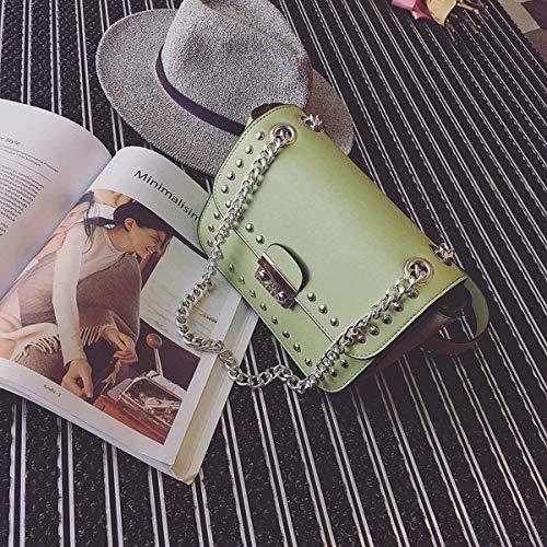 color Verde Moda Cuadrado Deducción Tamaño Moontang Mensajero Labial Lápiz Bandolera Femenino Paquete Pequeño De Bolsa Negro qwS7ZA