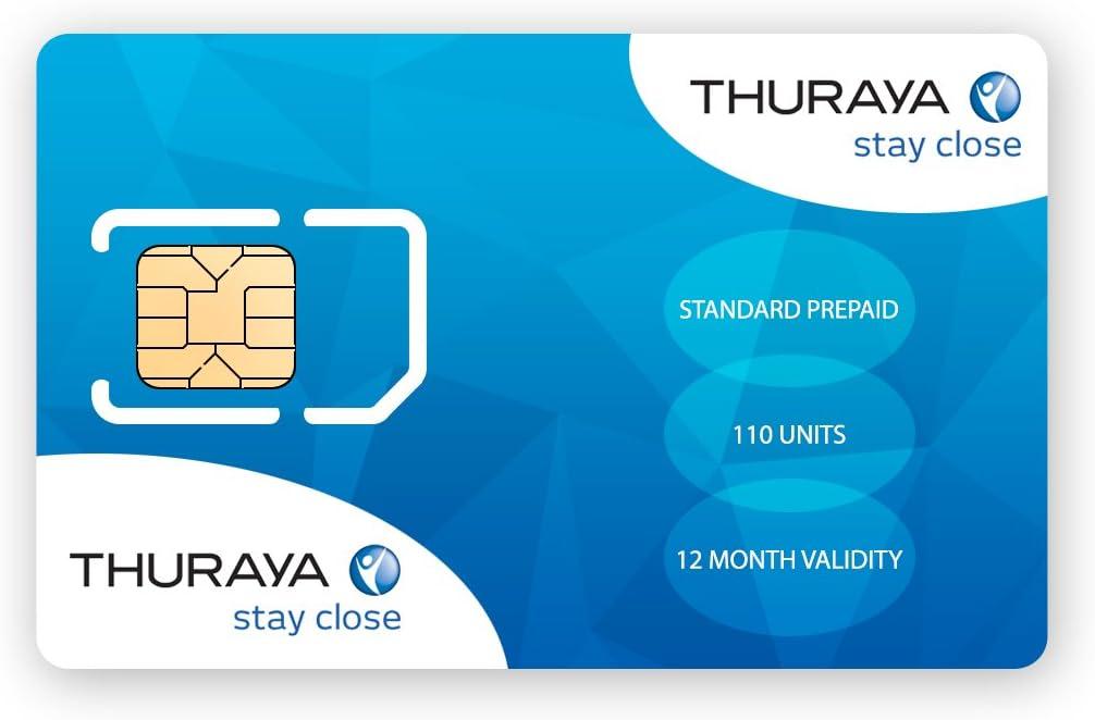 Thuraya Satellite Phone Standard SIM Card with 110 Units