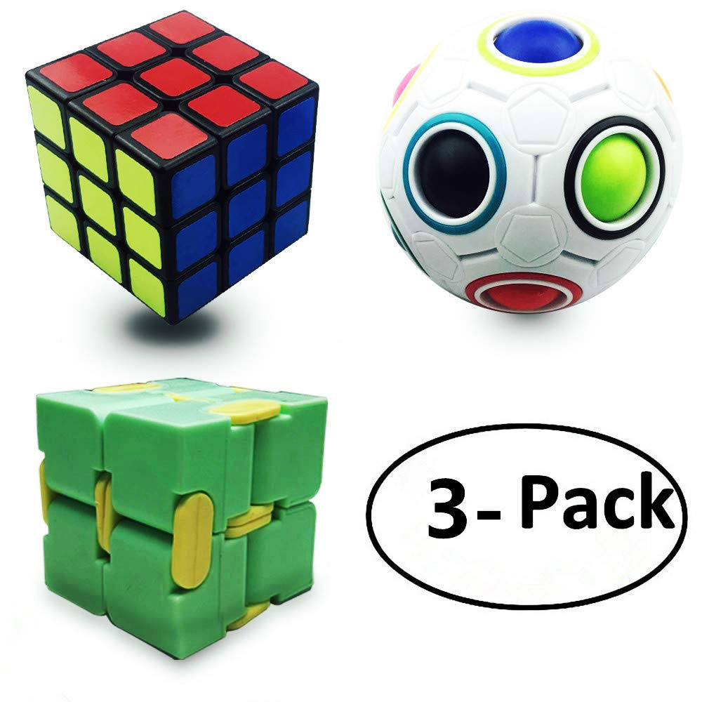 Anditoy Speed Cube Magic Puzzle Ball Infinity Cube Fidget Toys (3 Pack)