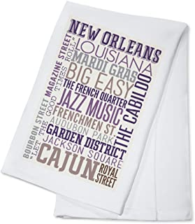 product image for New Orleans, Louisiana - Typography (100% Cotton Kitchen Towel)