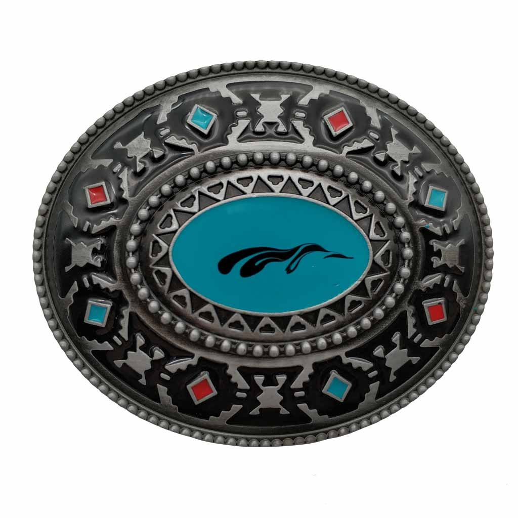 Native American Western Indian Artistic Belt Buckle KZUS008