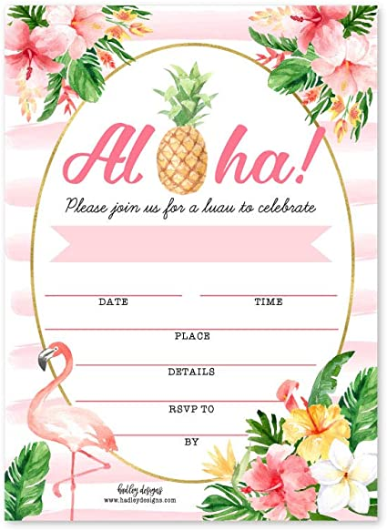 This is a photo of Free Printable Luau Invitations intended for digital