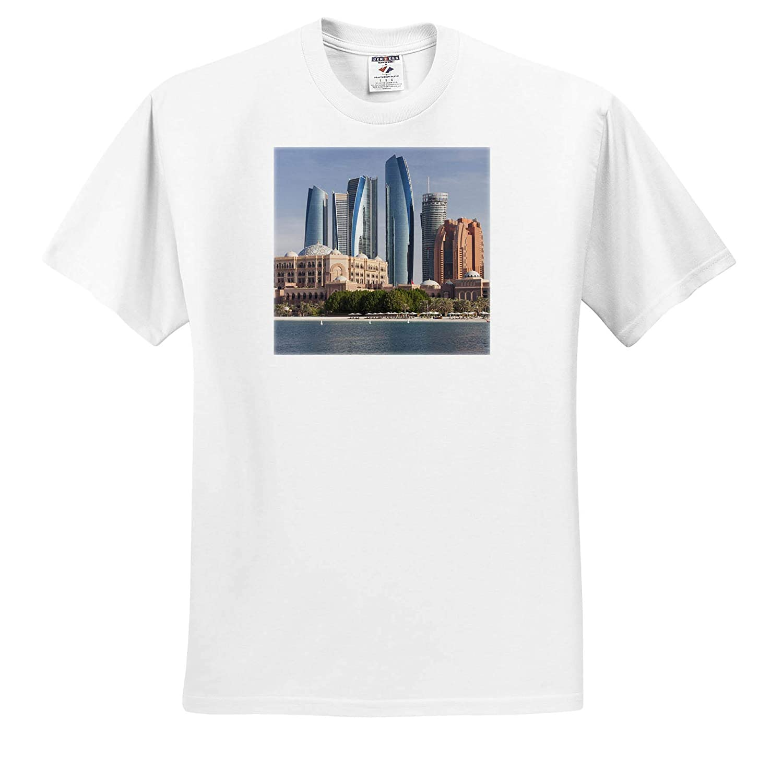 ts/_312937 - Adult T-Shirt XL Abu Dhabi 3dRose Danita Delimont Skyline and Beach Abu Dhabi UAE