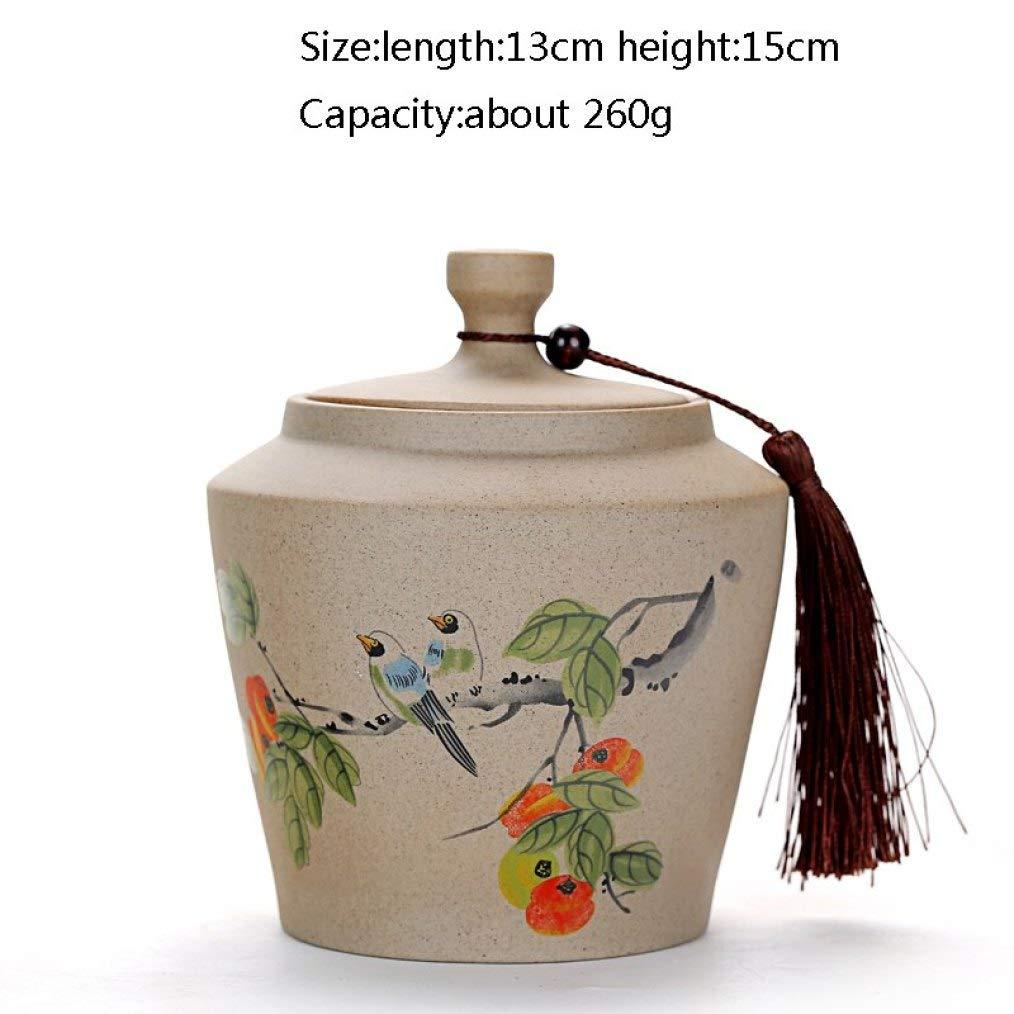 Japanese Style Tea Caddy Vintage Ceramic Tea Set Tea Cans Salt Canister Spice Food Storage Bottles Coffee Nut Jar for Home Decor by BERTERI (Image #1)