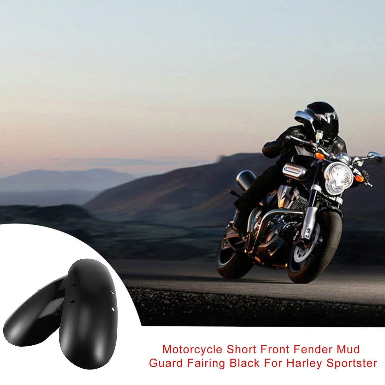 Pudincoco Moto Avant Aile Avant Garde De Boue Car/énage Noir Pour Harley Sportster Moto Avant Aile Avant Car/énage