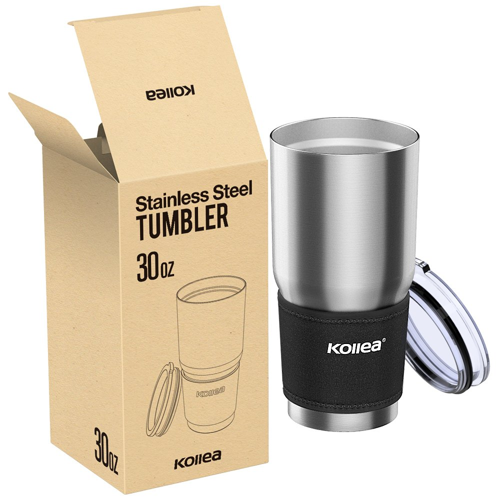 Office Kollea 18//8 Stainless Steel Tumbler Premium Quality Double Wall Vacuum Insulated Travel Mug Water Coffee Cup For Home School for Hot /& Cold Drinks LYSB01M23QK62-SPRTSEQIP